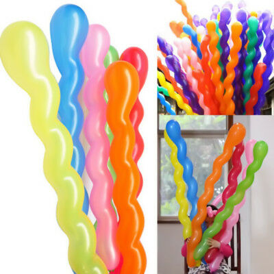 200 x twist spiral long balloons girls boys birthday party wedding home decor NY