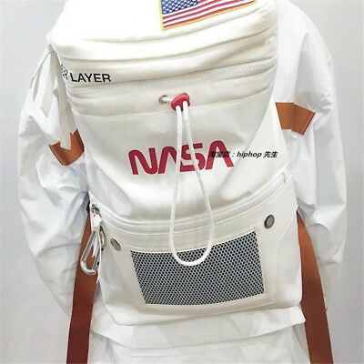 NASA Astronaut Canvas Large Backpack Unisex Waist Shoulder Bag Satchel Rucksack
