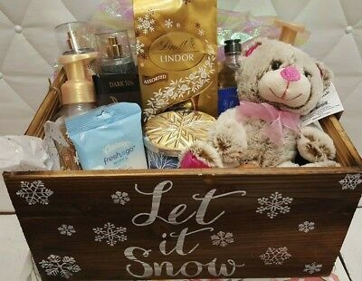 Bath and Body Works Gift Basket Winter Frosted Coconut Snowball First Frost