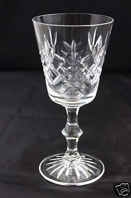 Edinburgh Crystal Lomond Pattern Claret Wine Glass Signed 15.5cm High