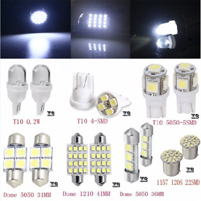 14PCS LED Interior Package Kit For T10 36mm Map Dome License Plate Lights Kits