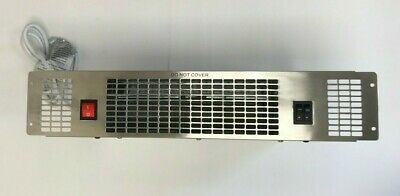 CDA ELECTRIC KITCHEN PLINTH HEATER 2kw STAINLESS STEEL APH01SS
