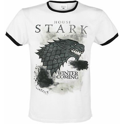 OFFICIAL Game of Thrones House Stark Winter Is Coming Mens T-Shirt Top (NEW)
