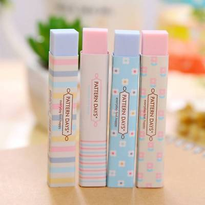 4 x Color Soft Erasers Pencil Rubber Student School Office Stationery Party Gift