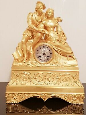RARE French ,,figural'' clock, restoration period (between 1814-1830)