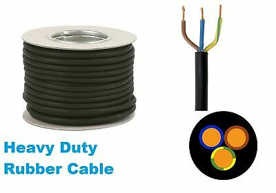 Rubber Cable 3 core 1.0 H07RN-F Heavy Duty Pond Outdoor Site Extension lead