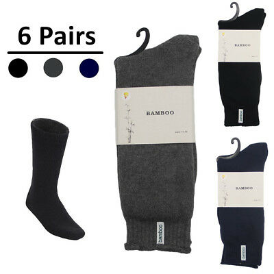6 Pairs Thick Bamboo Premium Work Socks Tough Heavy Duty Thermal Odor Resistant