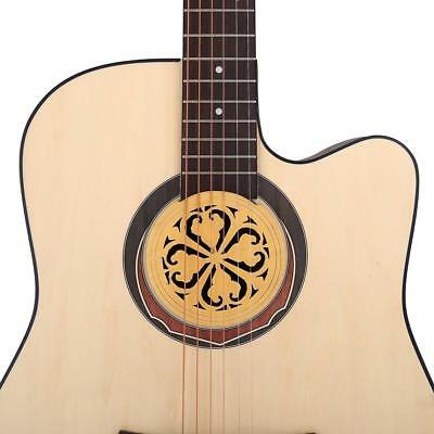 Wood + Sponge Guitar Sound Hole Cover Block Protector for 41'' Acoustic Guitar