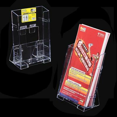 Brochure Desk Stand Clear Acrylic Pamphlet Display Durable Business Card Holder