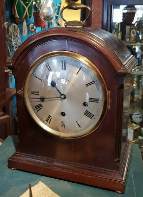 VERY HANDSOME WESTMINSTER CHIMING MANTEL CLOCK BY WALKER & HALL Ltd.