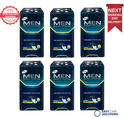 Tena Men Level 2 Absorbent Protector 6 Packs of 20 (Total 120 Pads)