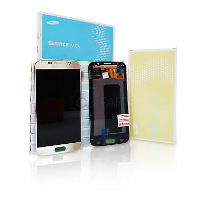 ORIGINAL Samsung Galaxy S6 LCD-Display Gold (SM-G920F) Touchscreen service pack