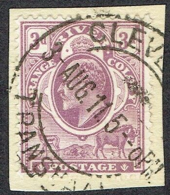 1910-13 Orange River Colony used in Transvaal 3d Mauve SG Z135 VFU Cleveland CDS