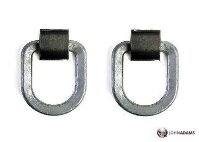 2 x Ferry Lashing Ring & Cleat Truck Tie Down Up Weld On Steel Load Ship Trailer