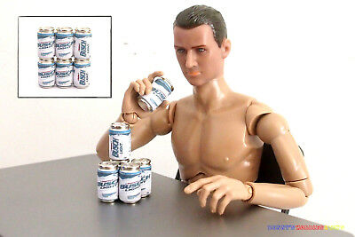 "6PCs 1//6 Scale USA American Beer Cans Miller Lite For Enterbay 12/"" Action Figure"