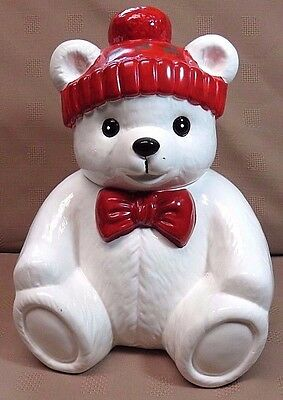 "Polar Bear Ceramic Vintage Cookie Jar 11 1/2"" The Cook's Bazaar"