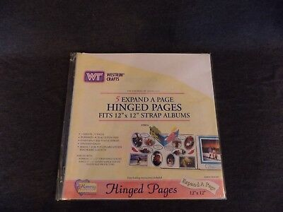 "Westrim Crafts 5 Expand A Page Hinged Pages Fits 12"" x 12"" Strap Albums #29016"