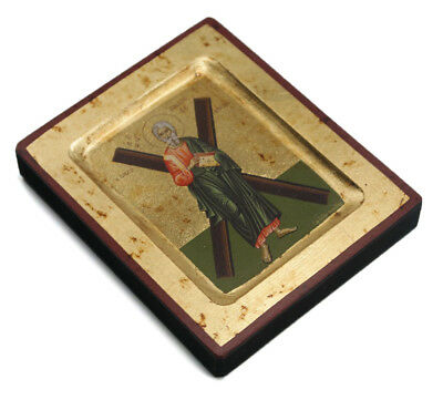 Greek Russian Orthodox Lithography Icon St. Apostle Andreas (Andrew) 12.5x10cm