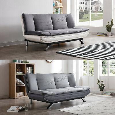 WestWood Fabric PU Leather Sofa Bed Couch 3 Seater Modern Luxury Home FSB07