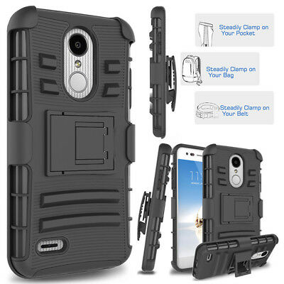 For LG Aristo,Aristo 2,K8 2018,K4 2017,K8 2017 Belt Clip Holster Shockproof Case