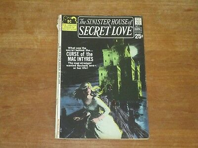 The Sinister House Of Secret Love #1 Dc Bronze Age Higher Grade Grey Tone Cover