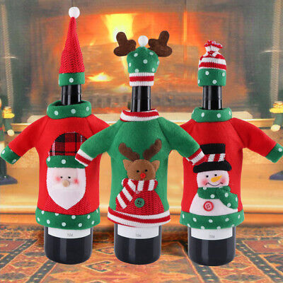 Christmas Party Gifts Unisex Sweater Office Products Red Wine Bags Bottle Cover