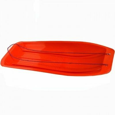 Gardman Long Large Snow Sledge Sleigh Toboggan with Rope - Red