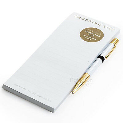 Magnetic Shopping List Pad With Pen Memo Jotter To Do Kitchen Notepad Mrs Hinch