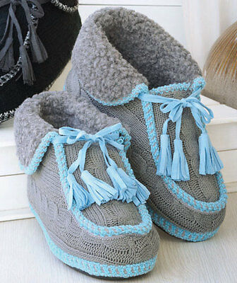 756c3f3d9b7d Womens Cable Knit Slippers Size 8