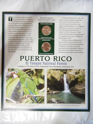 2012 P&d Puerto Rico El Yunque Nat. Park, Commemorative Quarter Panel     #u159