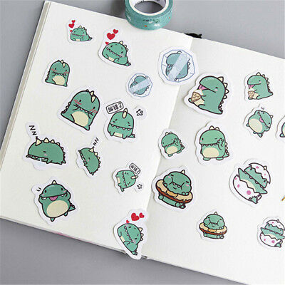 Cute Green Dragon Stickers Diy Diary Scrapbook Decoration PVC Stationery P0CA