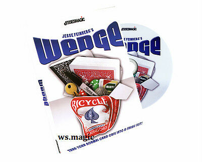 Wedge (DVD & Gimmick) by Jesse Feinberg Magic Trick Close Up Card Parlor Comedy