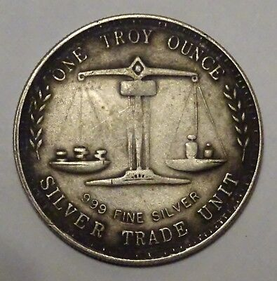 pièce argent usa One Troy Ounce .999 Fine Silver Trade Unit