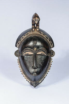 60) Baule Maske alt Afrika / Masque baoule ancien / Old tribal baule mask
