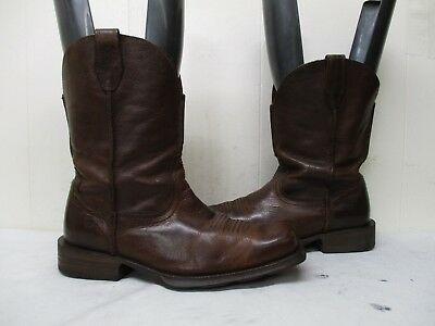 1dad2c60fa0 ARIAT RAMBLER BROWN Leather Square Toe Cowboy Boots Men Sz 10.5 D Style  10015307