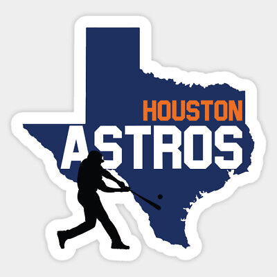 Houston Astros vinyl sticker for skateboard luggage laptop tumblers car e