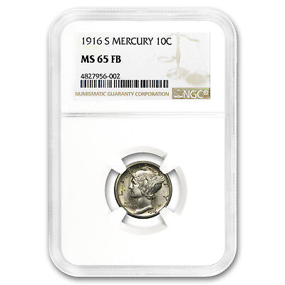 1916-S Mercury Dime MS-65 NGC (FB) - SKU#185882