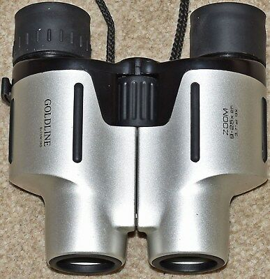 (540) Goldline 9-25X25 Binoculars With Zoom Feature & Protective Case