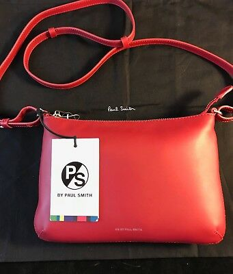 103cc94df6e0 BNWT   Dustbag PAUL SMITH Pink Pochette CTIP Cross Body Bag Gift Idea RRP  £195