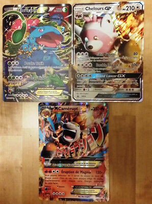 Lot de 3 grandes cartes Pokemon Jumbo neuves ex et gx