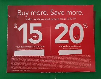 Office Depot OfficeMax 2 Offers online, instore or phone 2/5/19