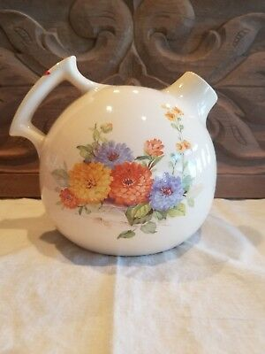 Universal Cambridge RARE Water Pitcher Jug Round Cream Flowers