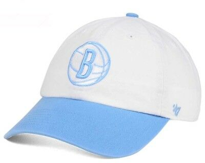 wholesale dealer c3a49 a4137 ... switzerland new brooklyn nets 47 brand nba powder blue clean up hat cap  adjustable 2e810 1cdff