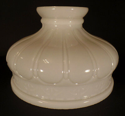 "New 10"" Early Coleman Style Opal White Glass Lamp Shade, Hand Blown, USA Made"