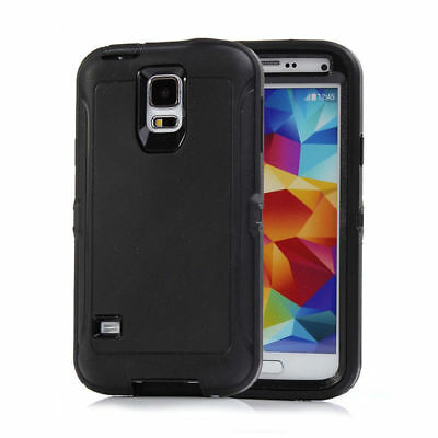 Case Cover For Samsung Galaxy S5 With (Clip Fits Otterbox Defender series) Black