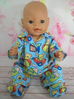 "Dolls clothes for 17"" Baby Born doll~ANIMALS & TOYS WINTER~PYJAMAS & BED SOCKS"