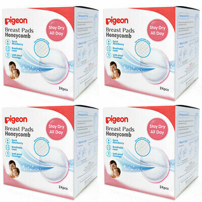 96pc Pigeon Honeycomb Ultra-Slim/Leak-Proof Disposable Breast Pads f/ Mothers