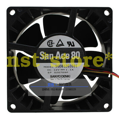 for SANYO 9G0812G1031 Server cooling fan DC12V 1.1A 80*80**38mm 3pin