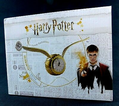 Harry Potter Golden Snitch Desk Clock Forbidden Forest Wings Quiddich Ukonic