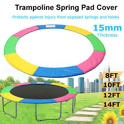 Outdoor Trampoline Spring Safety Pad Cover Round Rainbow 8ft 10ft 12ft 14foot AU